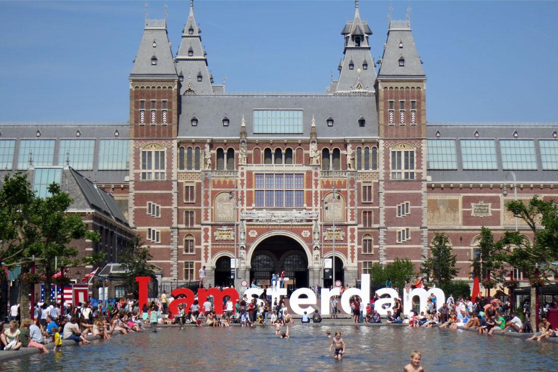 Museum square, Amsterdam, summer
